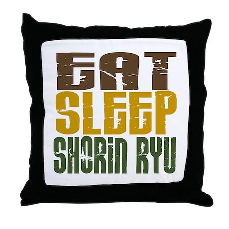 Eat Sleep Shorin Ryu Throw Pillow