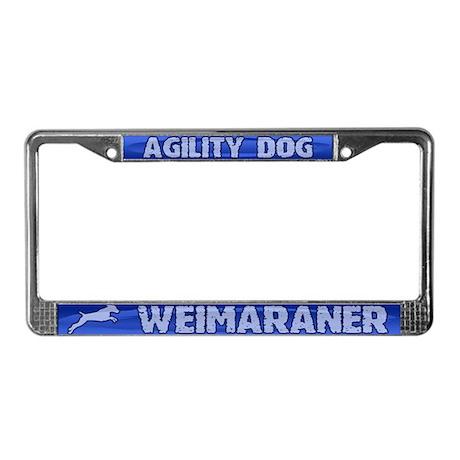 Agility Weimaraner License Plate Frame