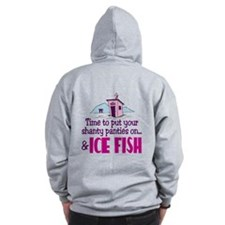 Shanty Panties Ice Fishing Zip Hoodie