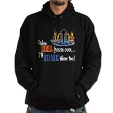 When Hell Freezes Ice Fish Hoodie