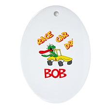 Bob Race Car Driver Oval Ornament
