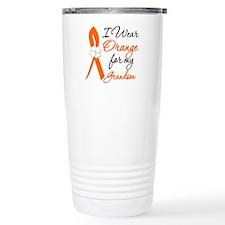 I Wear Orange For My Grandson Travel Mug