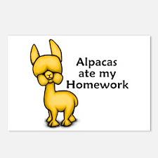 Alpacas ate my Homework Postcards (Package of 8)