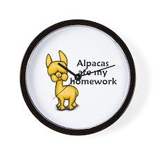 Alpacas ate my Homework Wall Clock