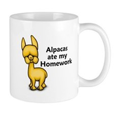 Alpacas ate my Homework Mug