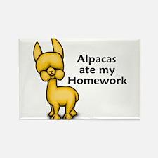 Alpacas ate my Homework Rectangle Magnet