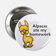"Alpacas ate my Homework 2.25"" Button"