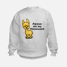 Alpacas ate my Homework Sweatshirt