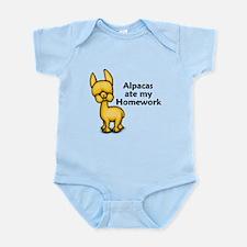 Alpacas ate my Homework Infant Bodysuit