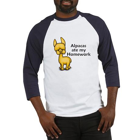 Alpacas ate my Homework Baseball Jersey