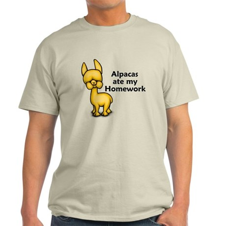 Alpacas ate my Homework Light T-Shirt