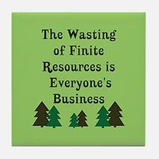 Finite Resources Tile Coaster