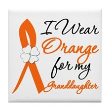 I Wear Orange For My Granddaughter Tile Coaster