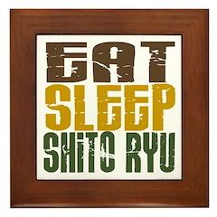 Eat Sleep Shito Ryu Framed Tile