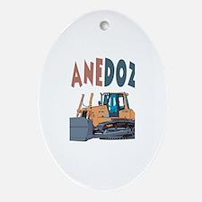 Shanedozer the Bulldozer Oval Ornament