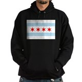 Chicago flag Dark Hoodies