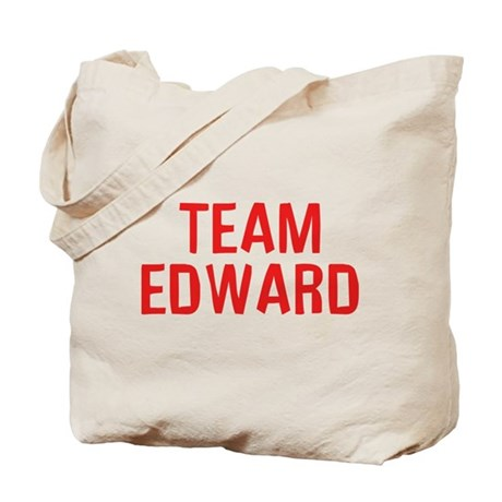 Team Edward (Red) Tote Bag