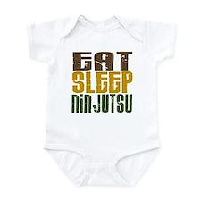 Eat Sleep Ninjutsu Infant Bodysuit