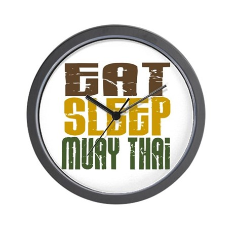 Eat Sleep Muay Thai Wall Clock