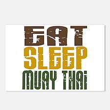 Eat Sleep Muay Thai Postcards (Package of 8)