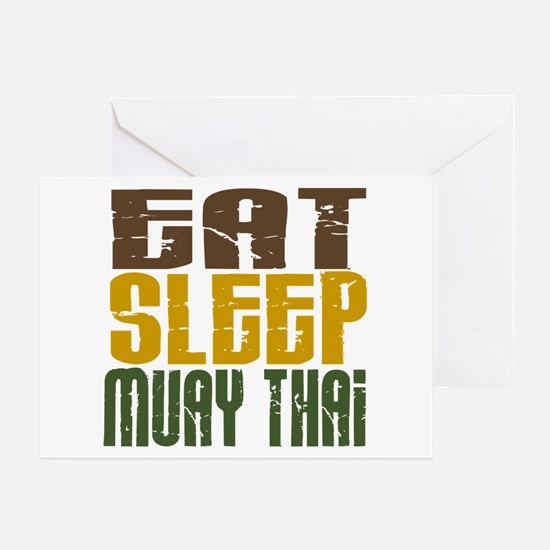 Eat Sleep Muay Thai Greeting Card