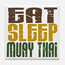 Eat Sleep Muay Thai Tile Coaster