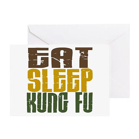 Eat Sleep Kung Fu Greeting Card