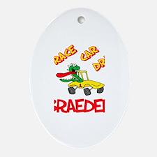 Braeden Race Car Driver Oval Ornament