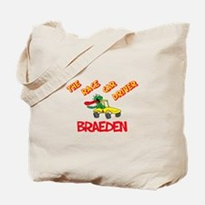 Braeden Race Car Driver Tote Bag