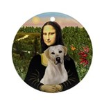 Mona Lisa & Yellow Lab Ornament (Round)