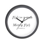 Merry f(x)-mas - Wall Clock