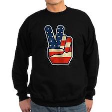 USA PEACE SIGN Sweatshirt
