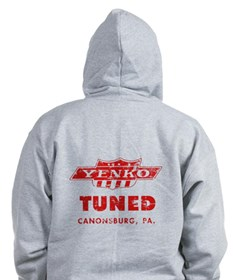 YENKO 2 DISTRESSED Zipped Hoody