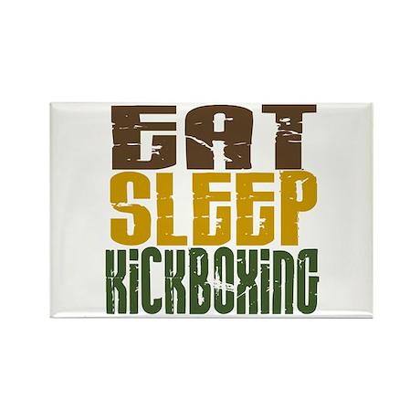 Eat Sleep Kickboxing Rectangle Magnet