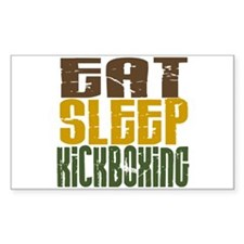 Eat Sleep Kickboxing Rectangle Decal