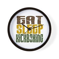 Eat Sleep Kickboxing Wall Clock