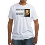 Thomas Jefferson 3 Fitted T-Shirt