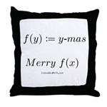 Merry f(x)-mas - Throw Pillow