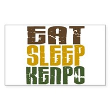 Eat Sleep Kenpo Rectangle Decal