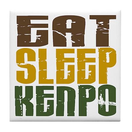 Eat Sleep Kenpo Tile Coaster