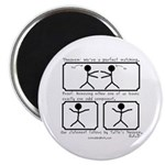"Perfect Matching - 2.25"" Magnet (100 pack)"