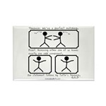 Perfect Matching - Rectangle Magnet (100 pack)