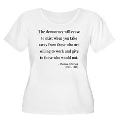 Thomas Jefferson 3 Women's Plus Size Scoop Neck T-