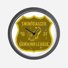 Swing Dancer Drinking League Wall Clock