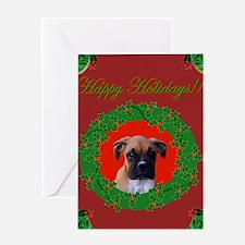 Holiday Boxer Dog Greeting Card