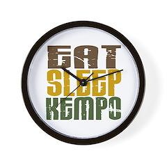 Eat Sleep Kempo Wall Clock