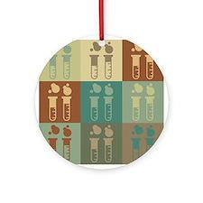 Chemistry Pop Art Ornament (Round)