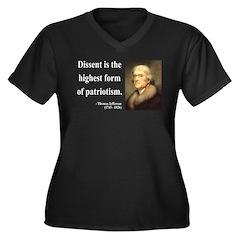 Thomas Jefferson 24 Women's Plus Size V-Neck Dark