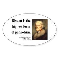 Thomas Jefferson 24 Oval Decal