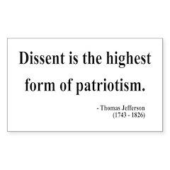 Thomas Jefferson 24 Rectangle Sticker